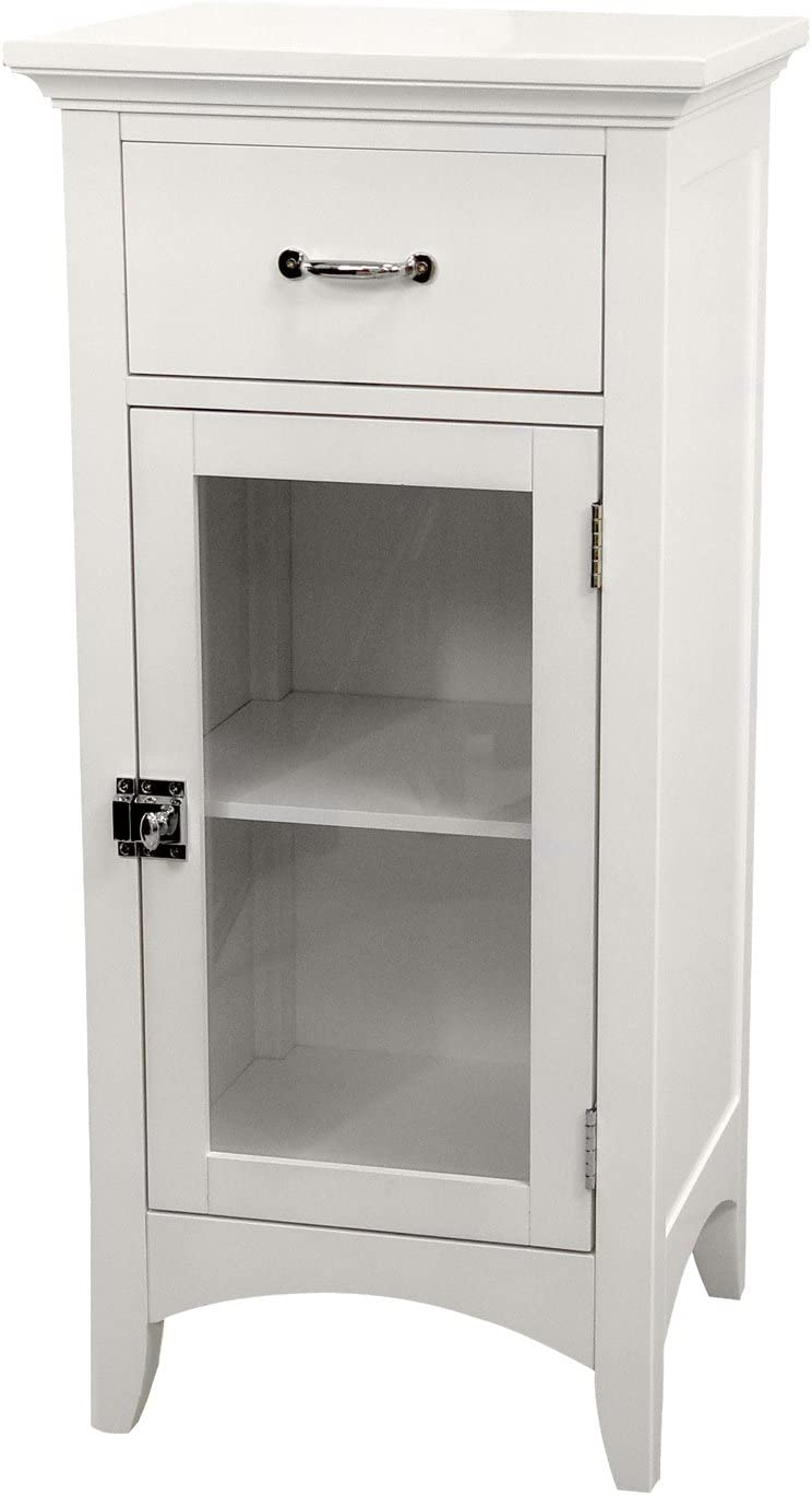 Elegant Home Fashions Madison 1-Door Floor Cabinet in White