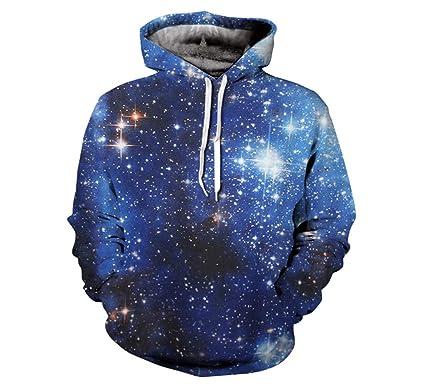 06fb8b324903 Espace d impression 3D Galaxie Graphiques Sweat-Shirt Veste Pull À Capuche  Pull Dessus  Amazon.fr  Vêtements et accessoires