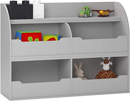 Mia DZ05089 Toy Storage Bookcase, Dove Gray