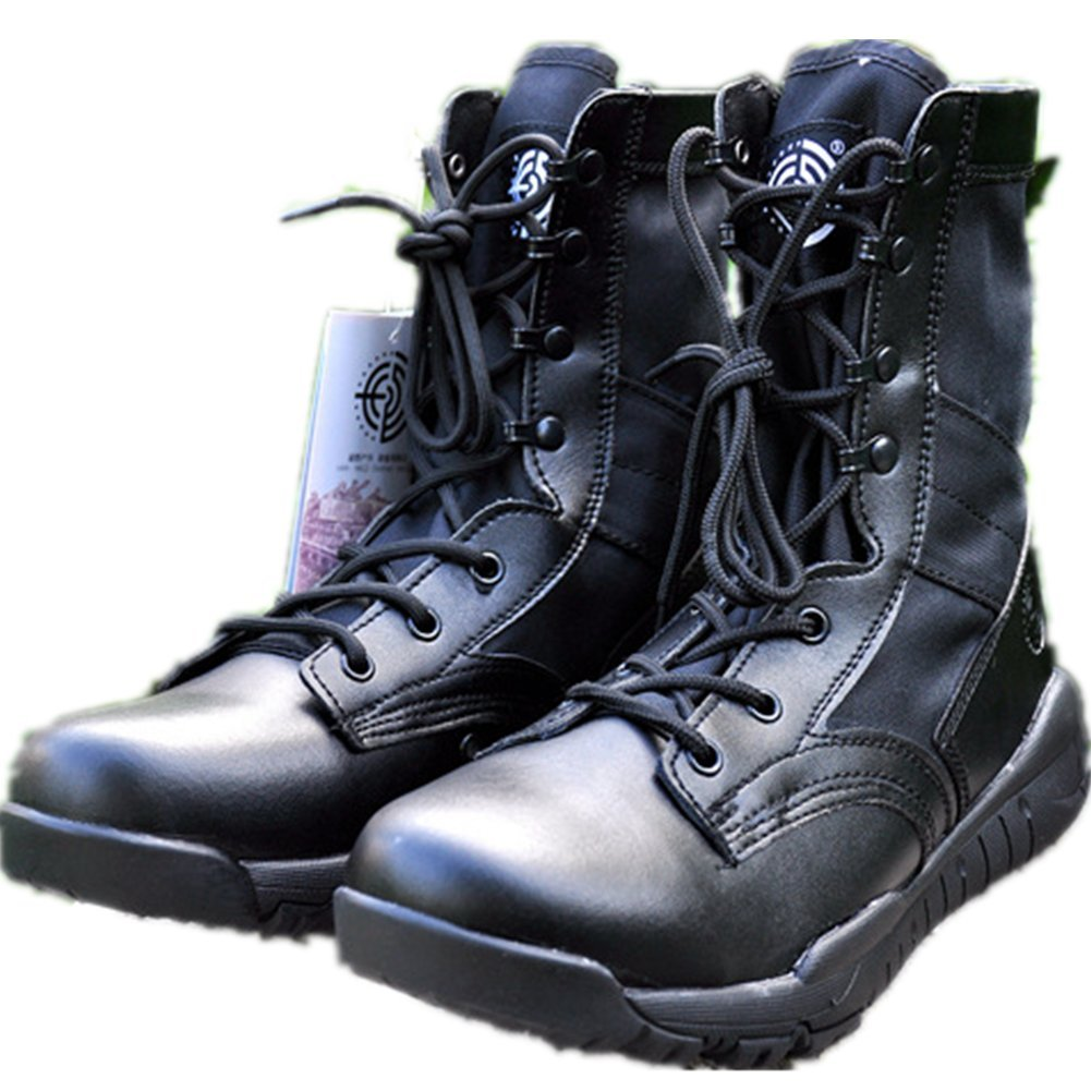 HanWild BE Dreamer Mens Lightweight 8 inches Leather Military Combat Boots