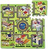 Teorema 72351 - Tappeto città Puzzle, 9 pezzi