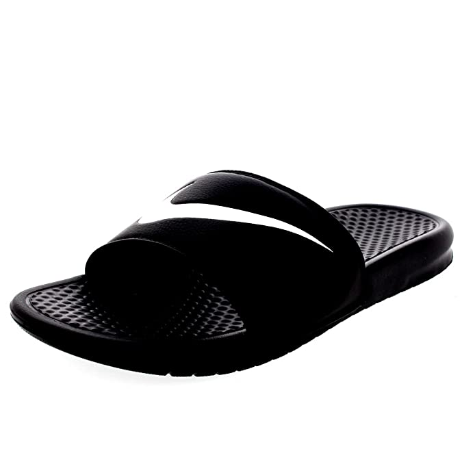 ae6e11618 Nike para Hombre Benassi Swoosh Deporte Casual Slip On Playa Ducha Piscina  Sandalias, 8 D(M) US, Negro/Blanco: Amazon.es: Deportes y aire libre