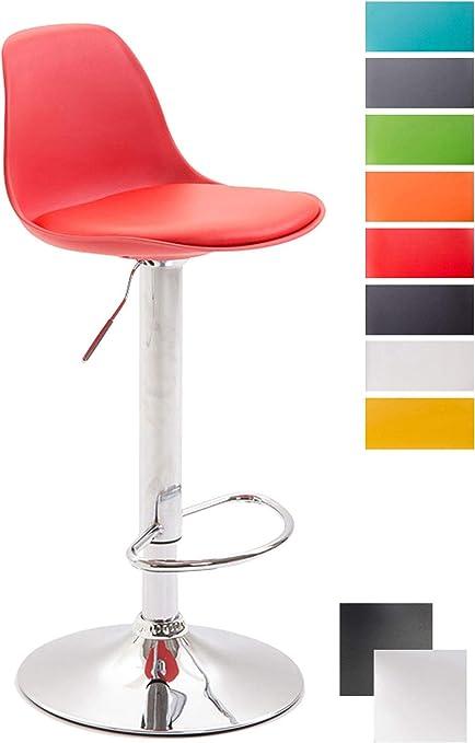 Clp Tabouret De Bar Design Kiel Assise En Similicuir Chaise De Bar Avec Dossier Plastique Repose Pied Tabouret Ergonomique Hauteur Reglable