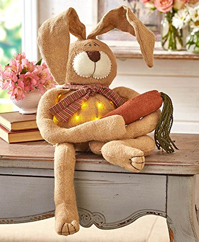 The Lakeside Collection Lighted Country Bunny
