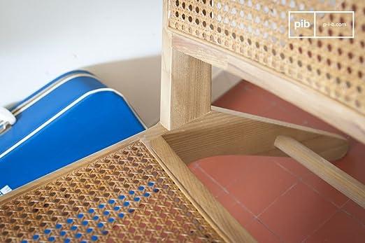 Zeitlose Sch/önheit pib Sessel aus Bambus Thisted L65 x H68 x P74 cm EIN skandinavischer Sessel mit Naturgeist aus Rohrholz und massiver Eiche Eichenholz - Olivbraun Leicht kombinierbar