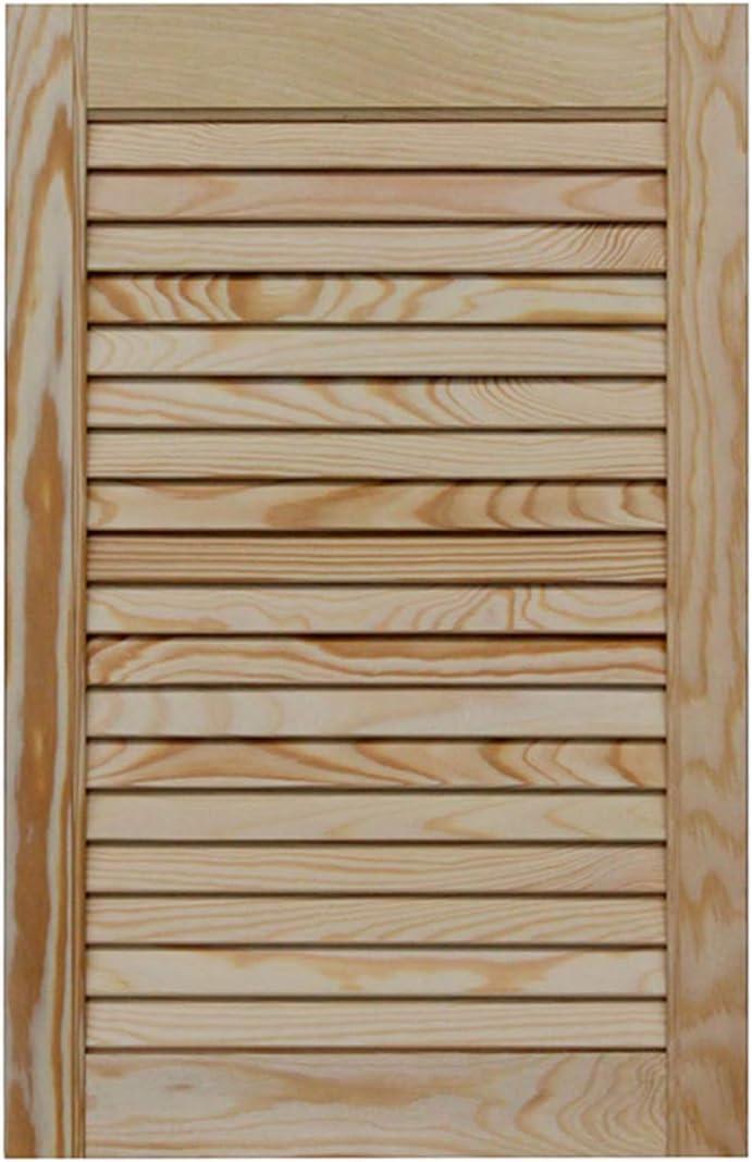 M/öbel Doppel-Paket 2-er Pack Lamellent/ür Holzt/ür natur 39,5 x 39,4 cm mit offenen Lamellen f/ür Regale Kiefer Holz unbehandelt Schr/änke