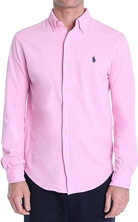 Ralph Lauren Mod. 710654408 Camisa Piqué Slim Fit Hombre Rosado L