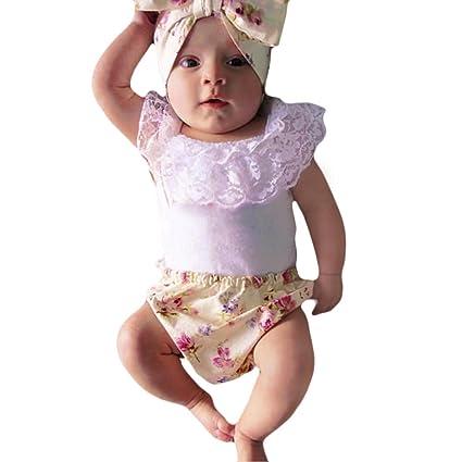 Amazon.com   Foerteng 3 pieces cute baby cotton Lace clothes 6973aaf8bd5