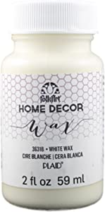 FolkArt 36318 Home Decor Chalk Furniture & Craft Paint in Assorted Colors, 2 ounce, White Wax