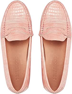 JENN ARDOR Penny Loafers for Women: Vegan Leather Slip-On Comfortable Driving Moccasins Ballet Flats