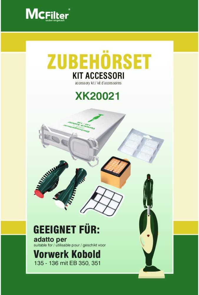 Juego de accesorios para aspiradoras Vorwerk Kobold 135, 136 ...