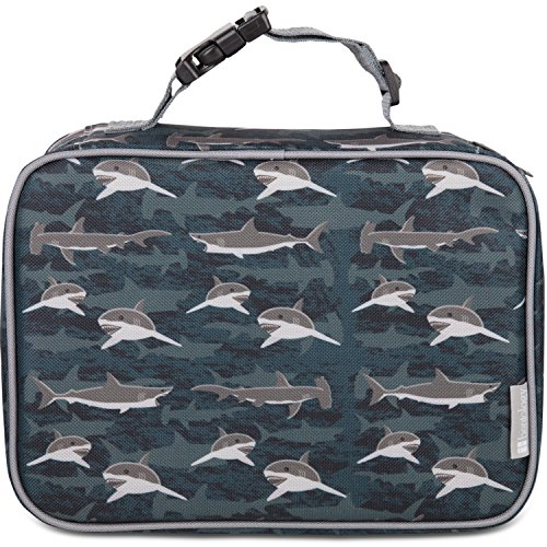 Insulated Lunch Box Sleeve - Securely Cover Your Bento Box (Sharks)