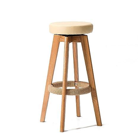 Brilliant Amazon Com Zhen Guo Modern Wooden Round Swivel Bar Stool Machost Co Dining Chair Design Ideas Machostcouk