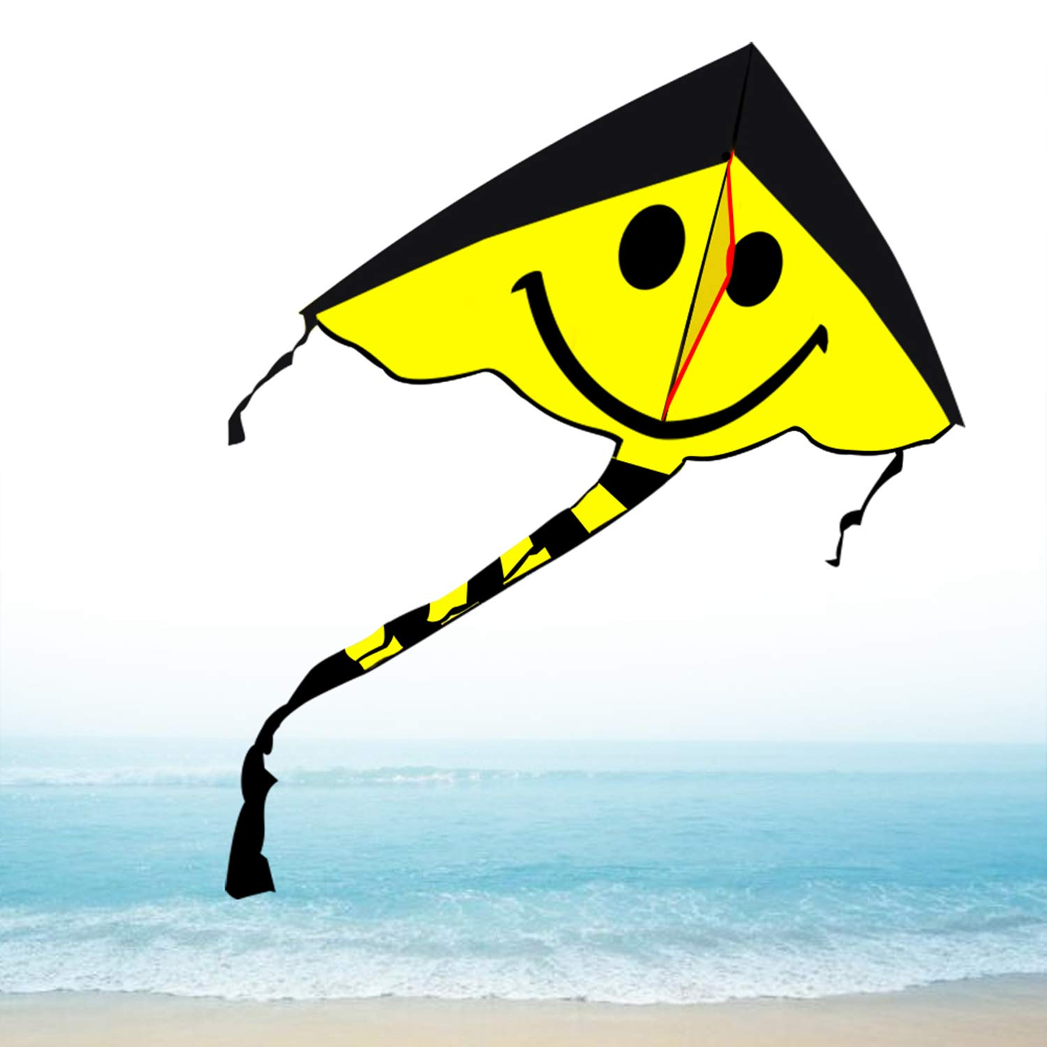 Smiling Kite Perfect Kites for Kids Boys Girls Toddlers Under 10 Easy to Fly for Beach Park Lawn Outdoor Fun, Best Kites Gifts Easy to Assemble