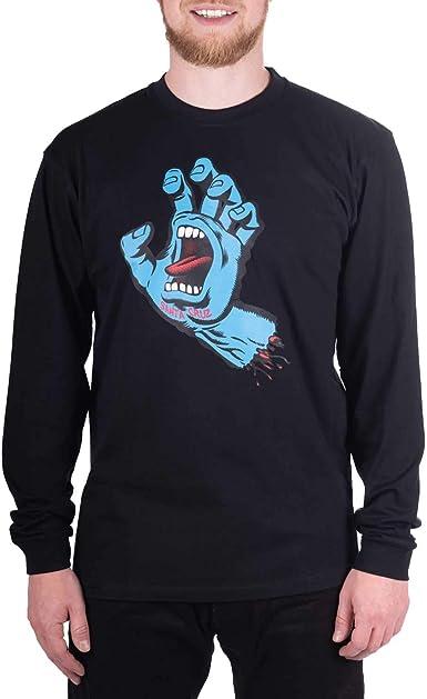 Camiseta manga larga Santa Cruz – Screaming Hand negro/azul talla: