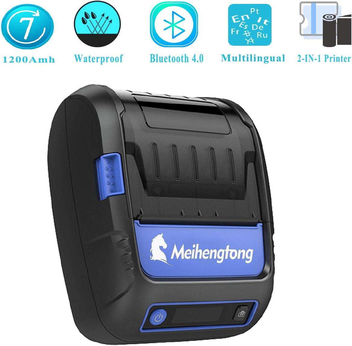 Impresora térmica Bluetooth Recibo Till Etiqueta código de Barras ...
