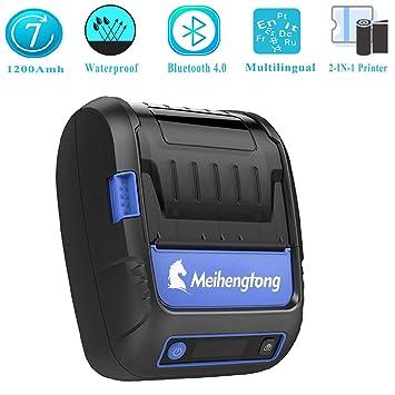 Impresora térmica Bluetooth Recibo Till Etiqueta código de ...