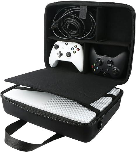 para Microsoft Xbox One S Consola Estuche de transporte paquete Viajes manga de bolso encaja cargador / cable / Mando Inalámbrico/Sensor Kinect por co2CREA: Amazon.es: Videojuegos