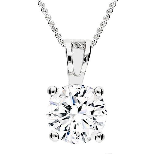 7e83f893ca8d MYA art collar tipo cadena de plata de ley 925 con solitario de ...