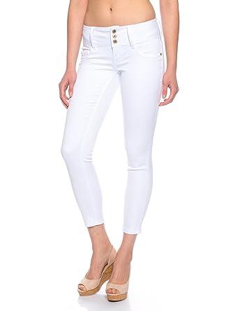Only Damen Jeans Anemone Soft Ankle Stretch-Hose weiß , Weite Länge ... 66693985f8