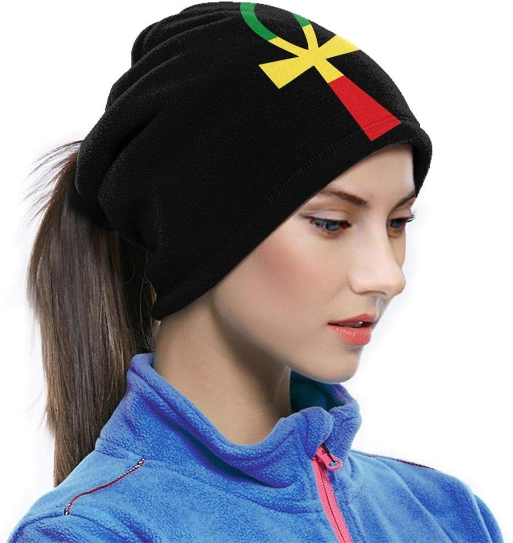 Rasta Ankh Neck Warmer Gaiter Fleece Ski Face Mask Cover for Winter