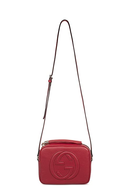 1787d33e0bf Gucci Women s 308364A7M0G6523 Red Leather Shoulder Bag  Amazon.ca  Sports    Outdoors