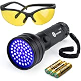 TaoTronics Black Light, UV Flashlights 51 Ultravilot Urine Detector for dogs, UV Sunglasses and Duracell Batteries included, Pet Stain Detector, Dog Urine Remover, Bed Bug Detector