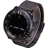 For Suunto Core Watch , Transer® Banda de reloj de acero inoxidable correa de liberacion rapida + tetones adaptadores para Suunto Core Watch