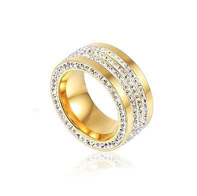 Amdxd Mode Schmuck Damen Ring 18k Vergoldet Ringe Elegante Ringe