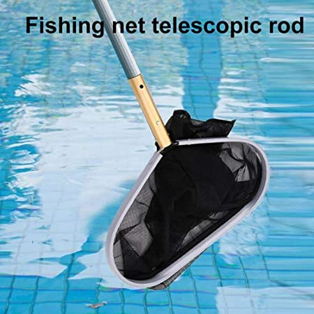 Pool Skimmer Heavy Duty Leaf Skimmer Fine Mesh Net Swimming Pool Skimmer for Cleaning Surface of Swimming Pools Blue Hot Tubs Spas and Fountains