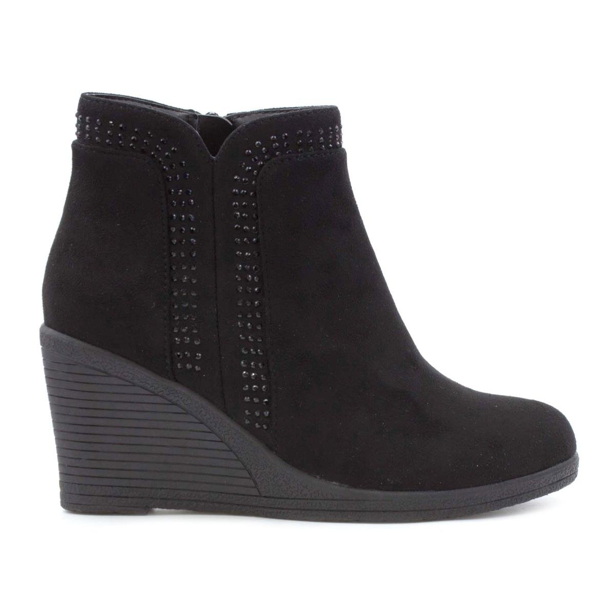 dress - Lilley Womens Black Buckle Detail Ankle Boot-18640 video