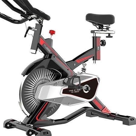 LSYOA Magnético Bicicleta Estática, Indoor Bicicleta, Inmóvil Bicicleta Fitness con Multifuncional Pantalla LCD, Ajustable Interior Cardio Bicicleta Estática,Red_Free Size: Amazon.es: Hogar