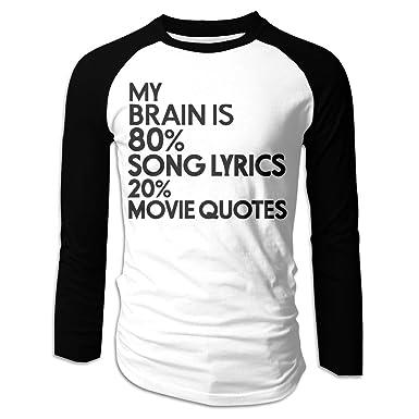 Amazon Com Lispit Men S My Brain Is 80 Song Lyrics 20 Movie