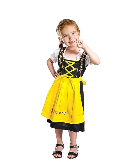 Seruna Dik05 Dirndl para los Niños, de 3 Piezas del Vestido del Traje de Vestido