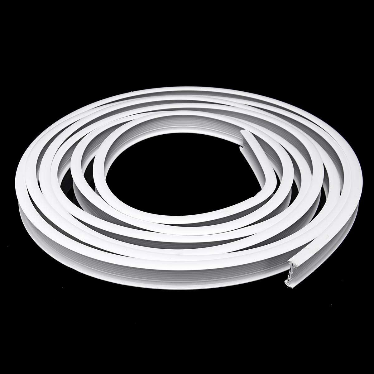Riel para Cortina Color Blanco 10 m 10 m, pl/ástico, Flexible TOPWA Side Clamping