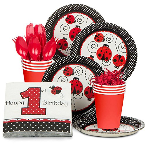 Ladybug 1st Birthday Standard Kit (Serves 8) -