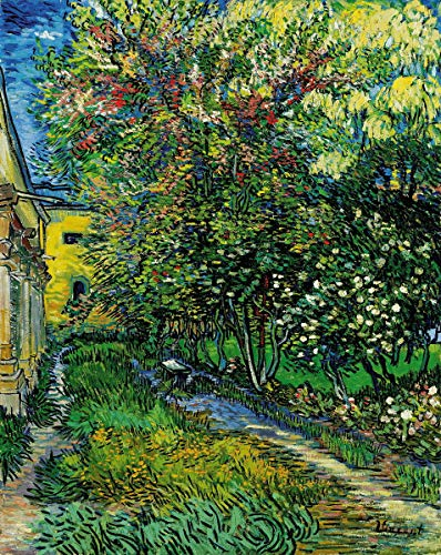 Berkin Arts Vincent Van Gogh Giclee Canvas Print Paintings Poster Reproduction(The Garden of The Asylum at Saint Remy) #XFB