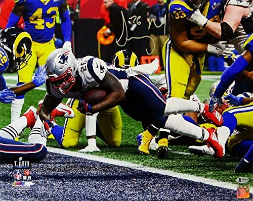 (Sony Michel Autographed Signed Patriots 16x20 Pf Sb Liii Td Full Color Photo-Beckett S - Certified Signature)