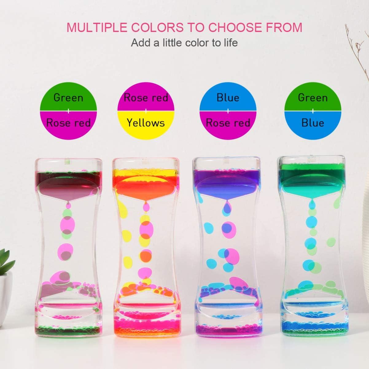 NUOBESTY Colores Dobles Gotas de Aceite Reloj de Arena ...
