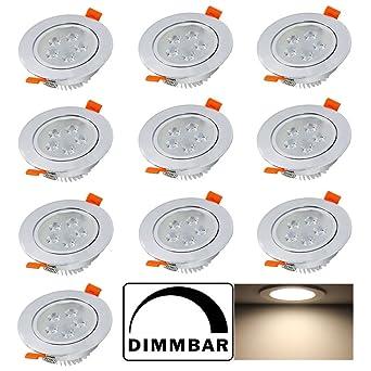 Hengda® 5W LED Einbauleuchten Dimmbar Einbauspots für decke ...
