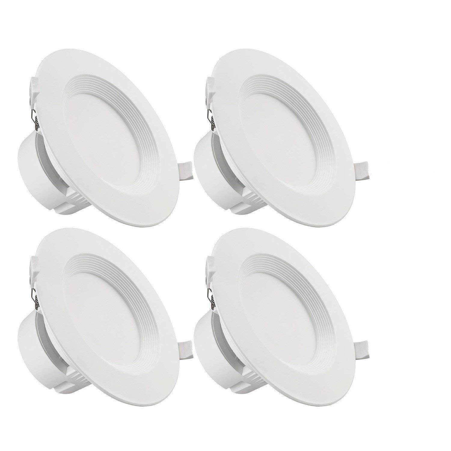 TORCHSTAR 4 PACK 6'' LED Recessed Downlight with Junction Box, 9W (80W Equivalent) Dimmable LED Ceiling Light Fixture, IC-Rated & Air Tight, Wet Location, 5000K Daylight, UL-listed, 5 Years Warranty by TORCHSTAR