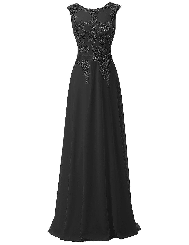 ce4d745766c Amazon.com  Belle House Women s Long Chiffon Evening Dresses Celebrity Beaded  Prom Gown  Clothing