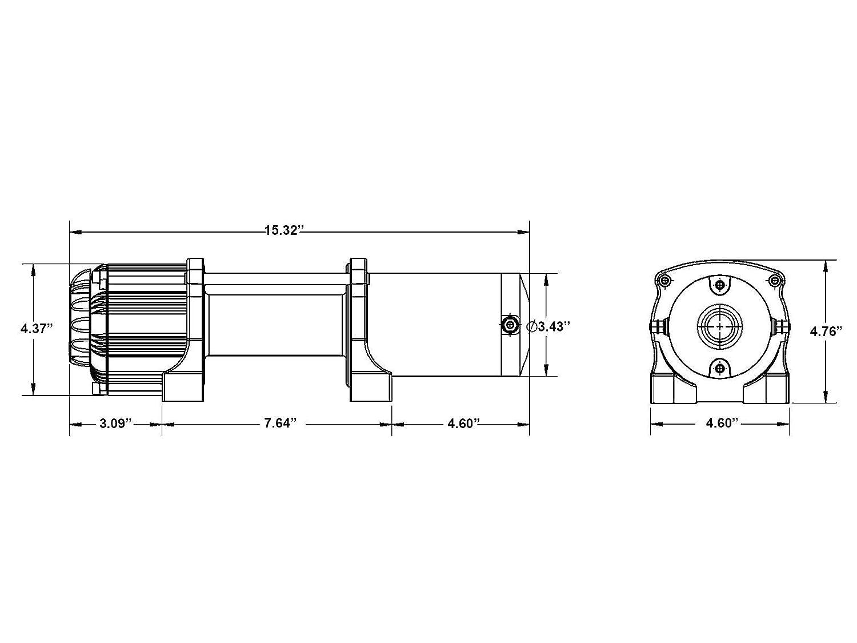 quadboss winch wiring diagram amazon com superatv heavy duty winch mounting plate for honda  amazon com superatv heavy duty winch