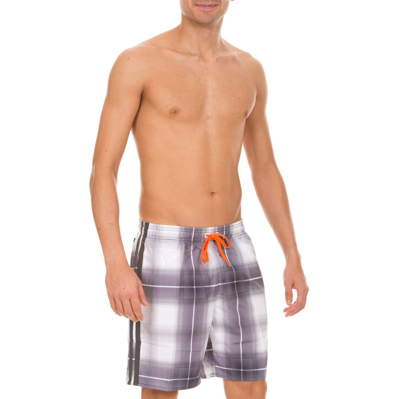 8e1a5b94429 Arena Men's Swimming Trunks Printed Check Shorts White White, Mango,  Asphalt Size:Small: Amazon.co.uk: Sports & Outdoors