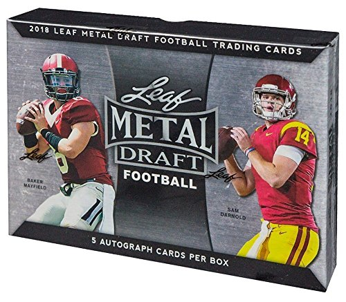 - 2018 Leaf Metal Draft Football box (FIVE on-card Autograph cards)