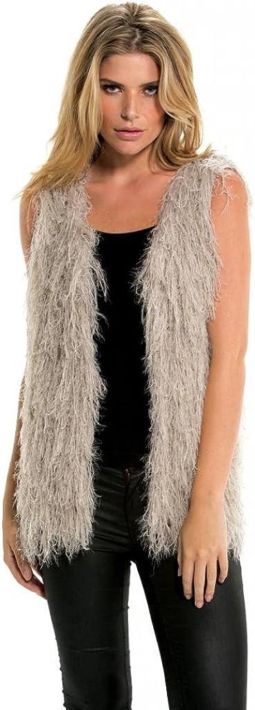 Elan Usa Shaggy Cardigan Sweater Vest