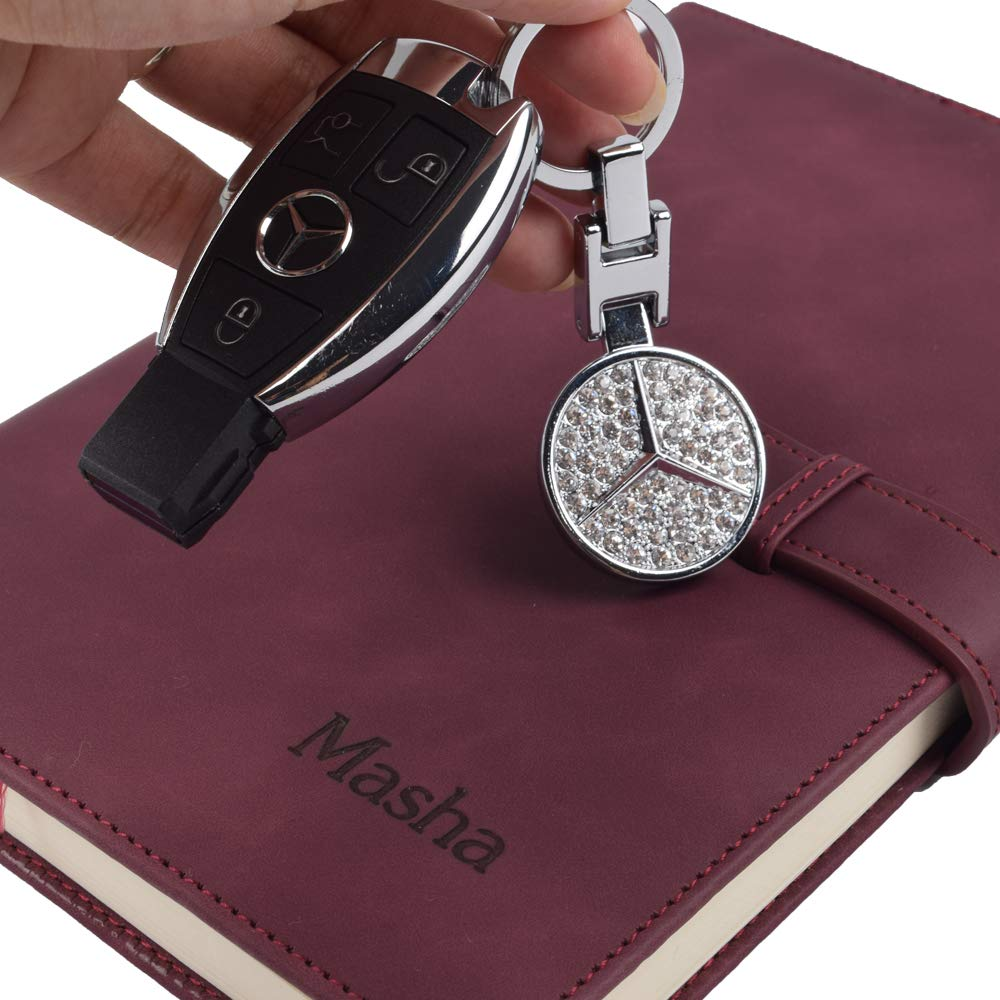 MASHA Car Logo Key Chain Applicable to Mercedes-Benz Accessories Metal Key Parts Key Chains Keyring