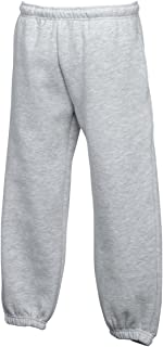 New Fruit Of The Loom Better Fit Kid pantaloni da jogging con tasche laterali
