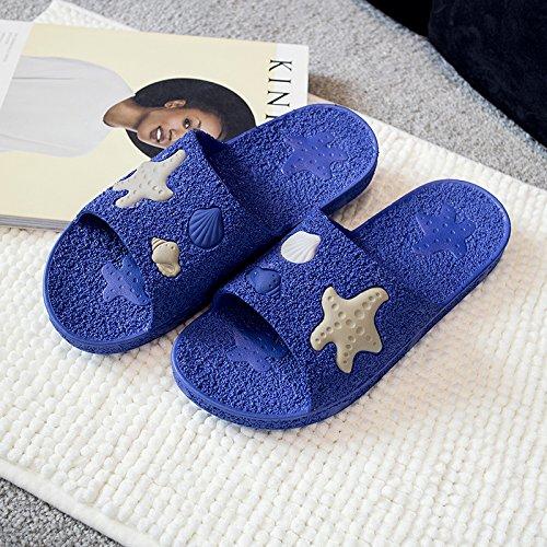 a fondo de real2 suelos zapatillas casa cool Azul tiene plástico par madera un bañera El y antideslizante verano de DogHaccd Zapatillas una blando interior baño zapatillas qa8RFA