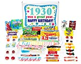 Woodstock Candy 1930 88th Birthday Gift Box of Nostalgic Retro Candy from Childhood for an 88 Year Old Man or Woman